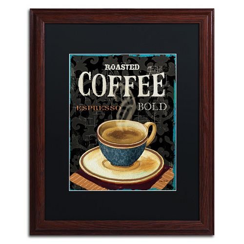 Trademark Fine Art Today's Coffee IV Matted Framed Wall Art