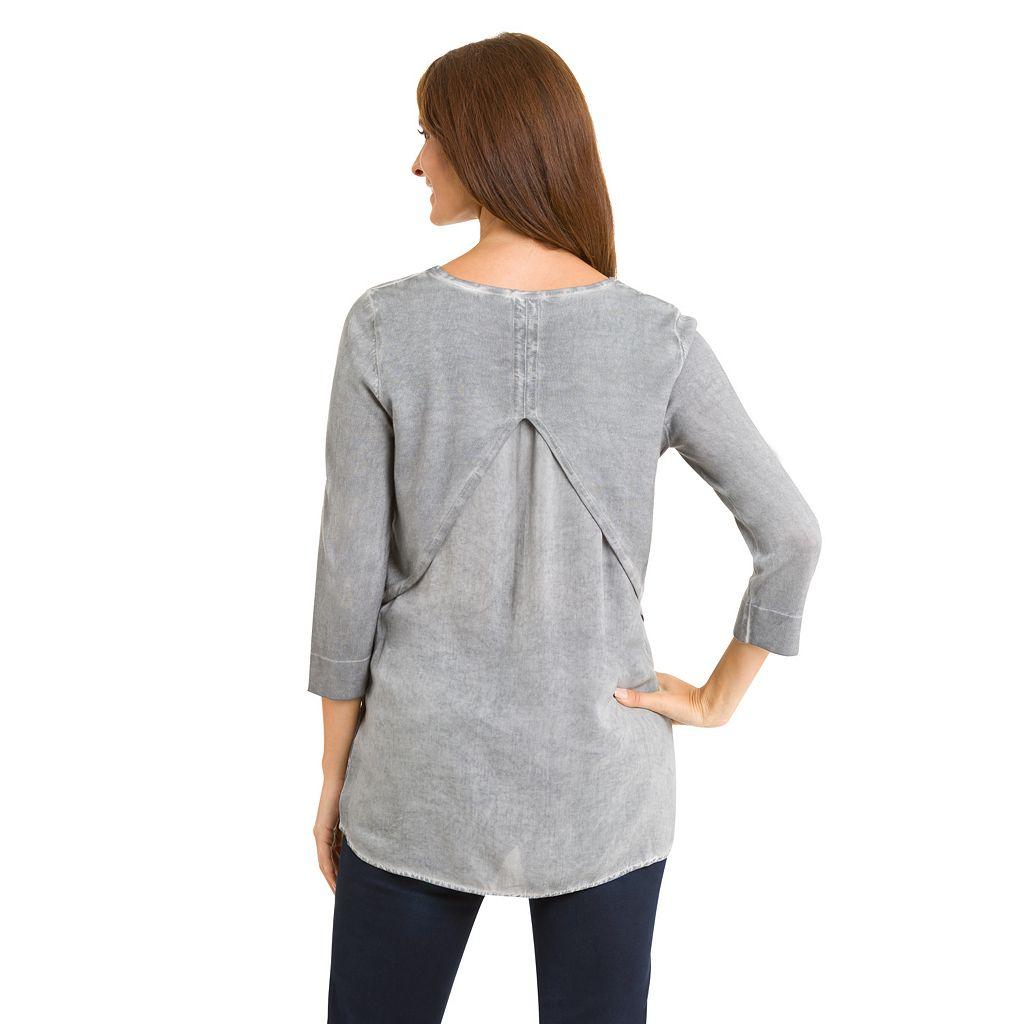 Women's Haggar Mock-Layer Sweater