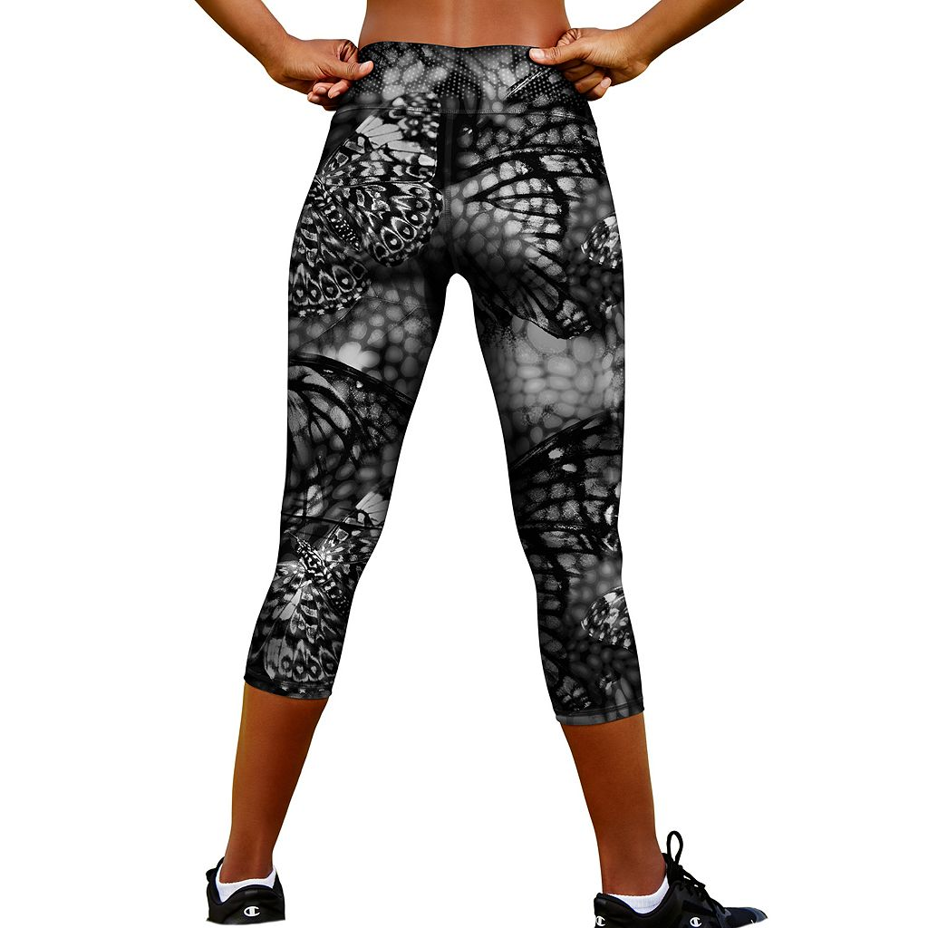 Women's Champion Absolute SmoothTec Printed Capri Workout Tights