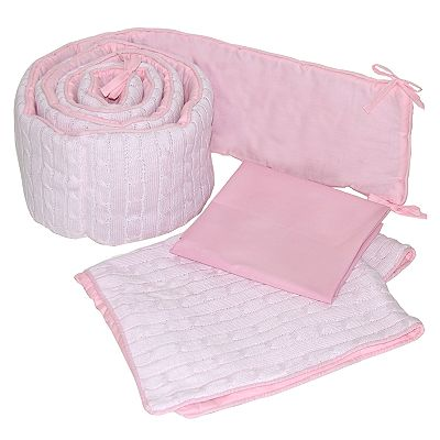 Sleeping Partners Cable-Knit Port-a-Crib Set