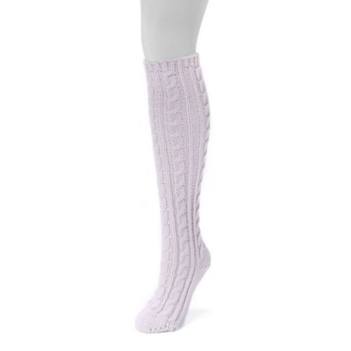 Women's MUK LUKS Solid Cable-Knit Knee-High Socks
