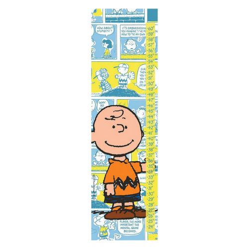 Peanuts Charlie Brown Comics Canvas Growth Chart by Marmont Hill