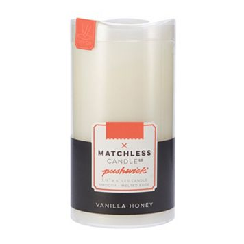 Matchless Candle Co. PushWick 3'' x 6'' Vanilla Honey Flameless Candle