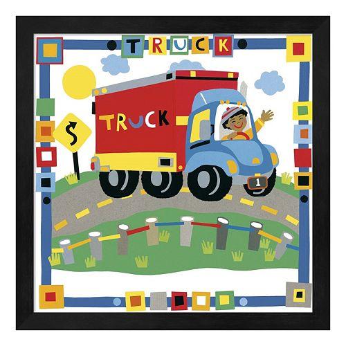 """Metaverse Art """"Truck"""" Framed Wall Art"""