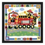 "Metaverse Art ""Firetruck"" Framed Wall Art"