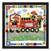 """Metaverse Art """"Firetruck"""" Framed Wall Art"""