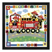 Metaverse Art 'Firetruck' Framed Wall Art
