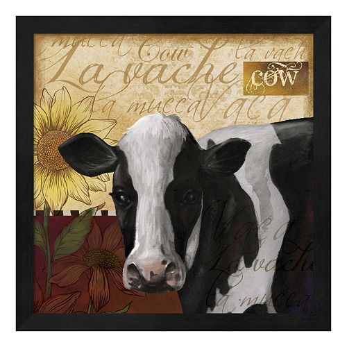 Metaverse Art Cow Framed Wall Art
