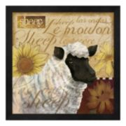 Metaverse Art Sheep Framed Wall Art