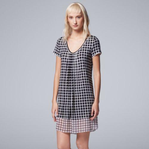 Women's Simply Vera Vera Wang Pajamas: Morning Frost Short Sleeve Sleep Shirt