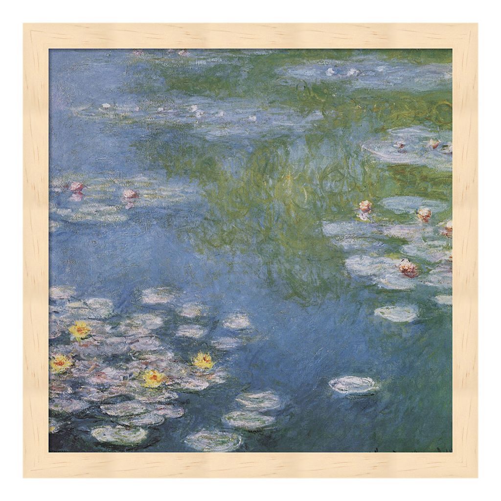 Metaverse Art Nympheas at Giverny Framed Wall Art by Claude Monet