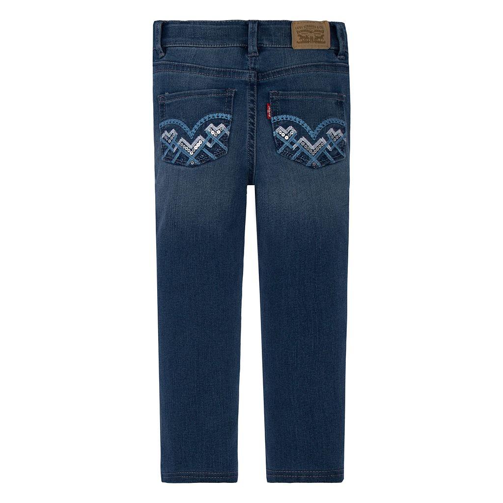 Girls 4-6x Levi's 701 Embellished Skinny Jeans