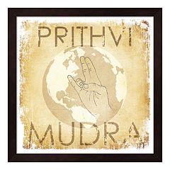 Metaverse Art 'Prithvi Mudra: The World' Wood Framed Wall Art