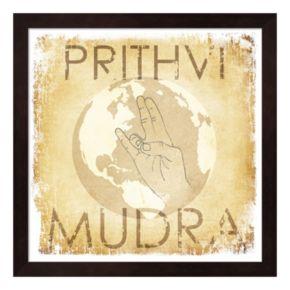 "Metaverse Art ""Prithvi Mudra: The World"" Wood Framed Wall Art"