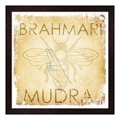 Metaverse Art 'Brahmari Mudra: Humming Bee' Wood Framed Wall Art