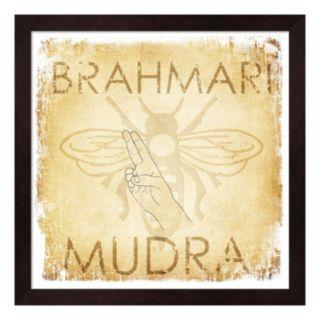 "Metaverse Art ""Brahmari Mudra: Humming Bee"" Wood Framed Wall Art"