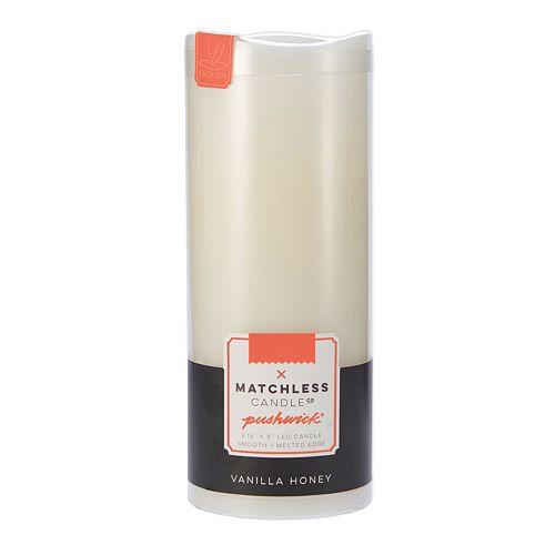 Matchless Candle Co. PushWick 3'' x 8'' Vanilla Honey Flameless Candle