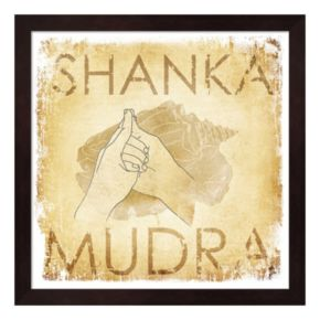 Metaverse Art Shanka Mudra Conch Framed Wall Art
