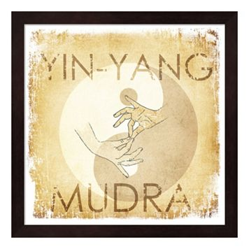 Metaverse Art Yin-Yang Mudra Framed Wall Art