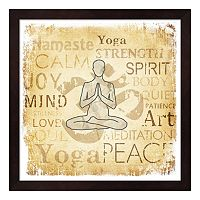 Metaverse Art Namaste Framed Wall Art