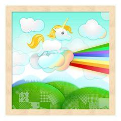 Metaverse Art Rainbow Guide Unicorn Framed Wall Art