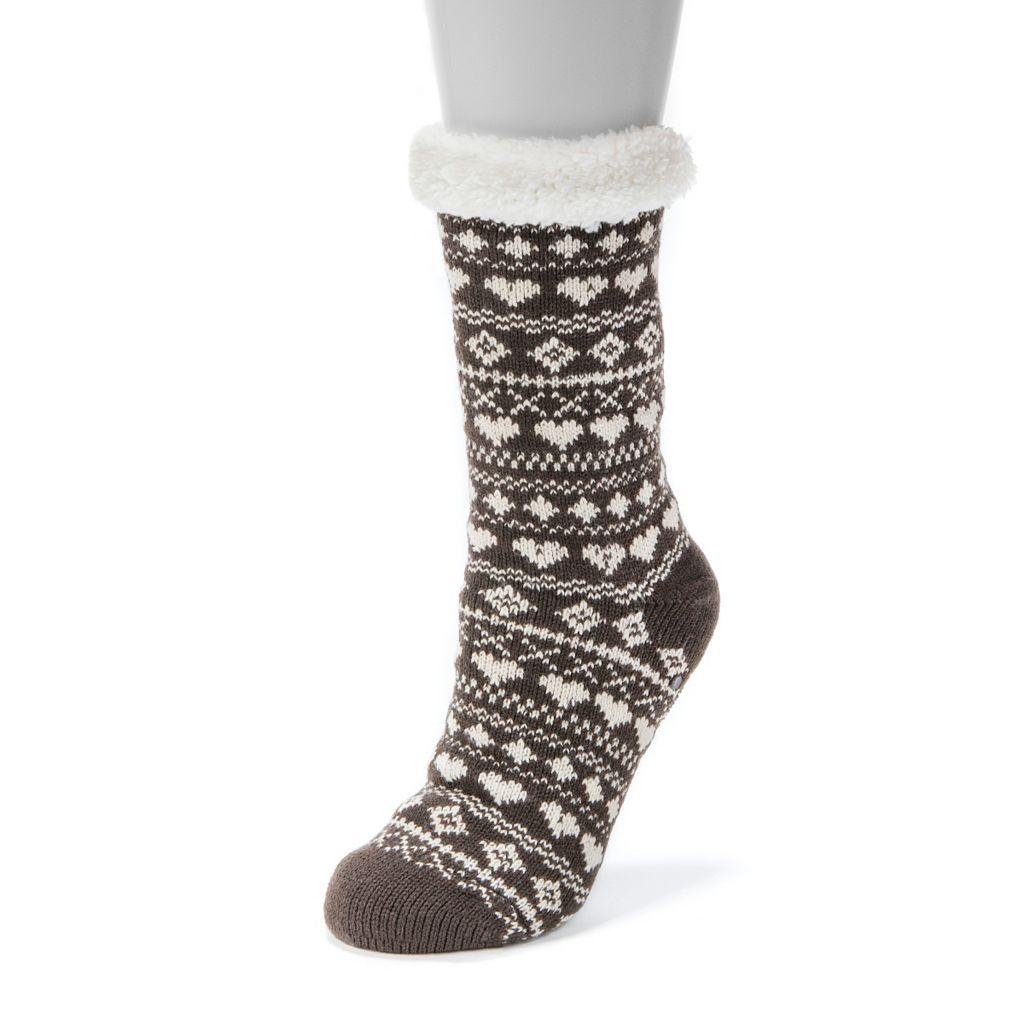 Women's MUK LUKS Heart Cabin Crew Socks