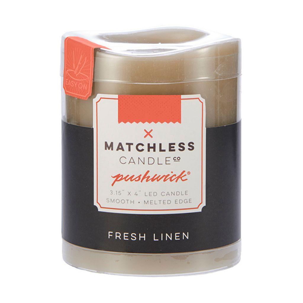 Matchless Candle Co. PushWick 3'' x 4'' Fresh Linen Flameless LED Candle