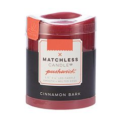 Matchless Candle Co. PushWick 3'' x 4'' Cinnamon Bark Flameless Candle