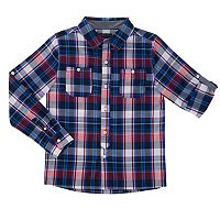 Boys 4-7 French Toast Plaid Roll-Tab Button-Down Shirt