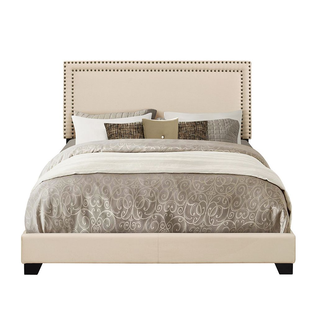 Pulaski Cream Upholstered Bed Set