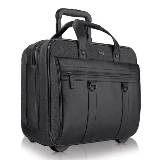 Solo Bradford Rolling Laptop Briefcase