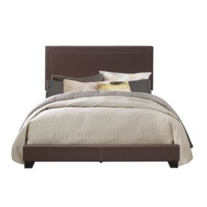 Pulaski Brown Upholstered Bed Set