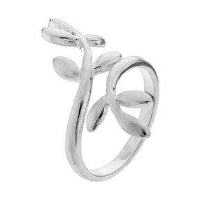 PRIMROSE Sterling Silver Vine Bypass Ring