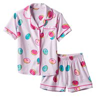 Girls 4-16 SO® Print Short-Sleeved Top & Shorts Pajama Set