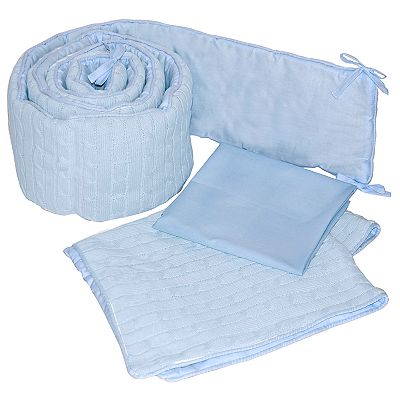 Sleeping Partners Cable-Knit Cradle Set - Blue