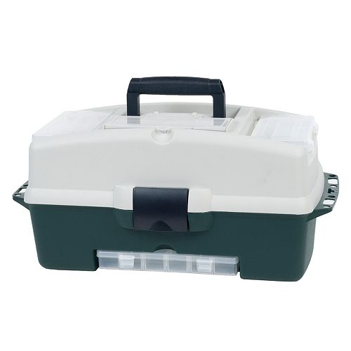 Wakeman Outdoors Fishing 2-Tray Tackle Box with 3 Removable Organizers