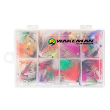 Wakeman Outdoors Assorted Dry Fly Fishing Flies (50-Piece)
