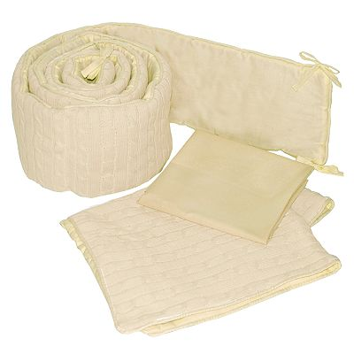 Sleeping Partners Cable-Knit Cradle Set - Natural