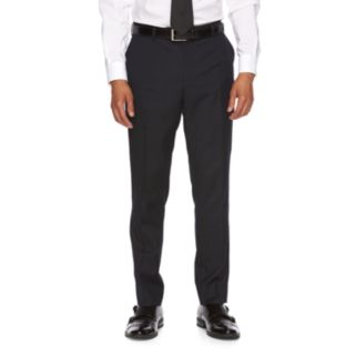 Men's WD.NY Slim-Fit Navy Pinstripe Flat-Front Suit Pants