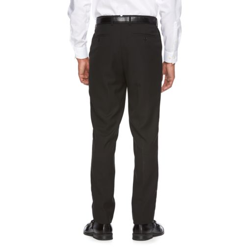 Men's WD.NY Slim-Fit Black Flat-Front Suit Pants