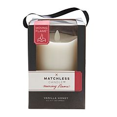 Matchless Candle Co. Moving Flame® 3.5'' x 5'' Vanilla Honey Flameless LED Candle