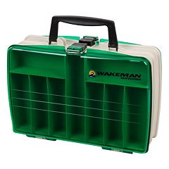 Wakeman Outdoors Fishing Two-Sided Tackle Box