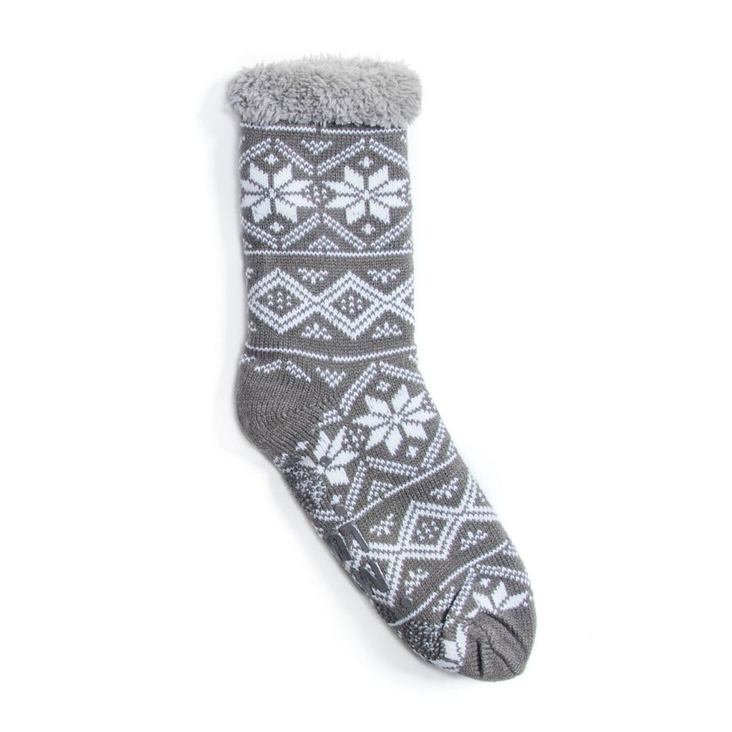 Women's MUK LUKS Snowflake Cabin Crew Socks