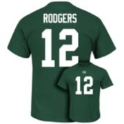 Men's Majestic Green Bay Packers Aaron Rodgers Eligible Receiver Tee