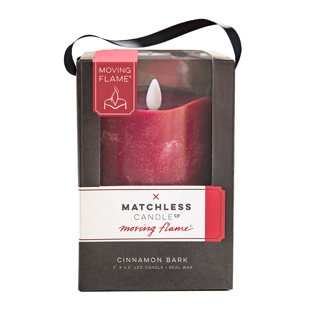 Matchless Candle Co. Moving Flame® 3'' x 6'' Cinnamon Bark Flameless LED Candle