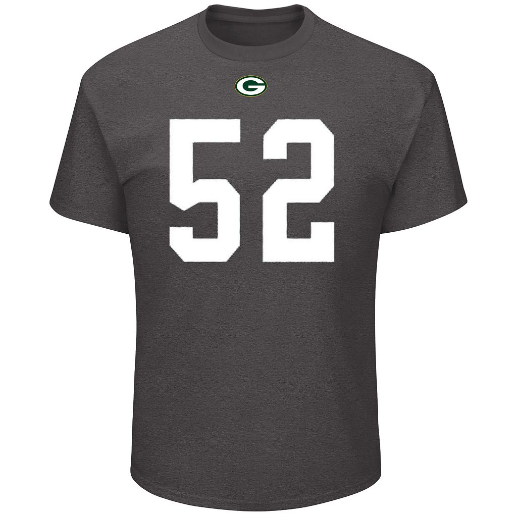 Men's Majestic Green Bay Packers Clay Matthews Eligible Receiver Tee