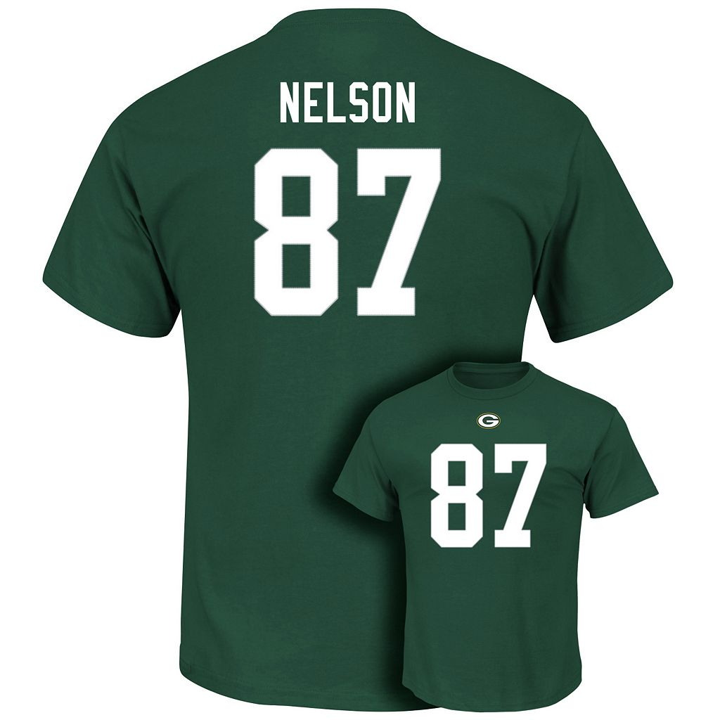 Men's Majestic Green Bay Packers Jordy Nelson Eligible Receiver Tee