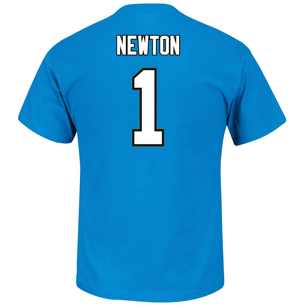 Men's Majestic Carolina Panthers Cam Newton Eligible Receiver Tee