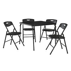 Cosco Folding Table & Plastic Backed Chair 5-piece Set