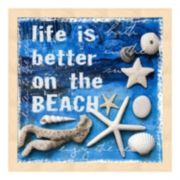 "Metaverse Art ""Life is Better on the Beach"" Framed Wall Art"